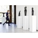 Galeriesockel matt-weiß, 30 x 30 x 100 cm (LxBxH)