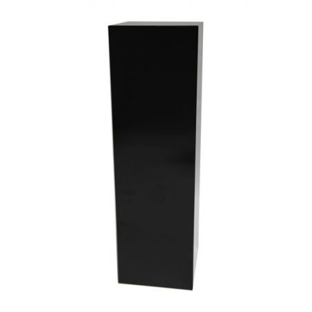 Galeriesockel schwarz Glanz, 30 x 30 x 100 cm (LxBxH)