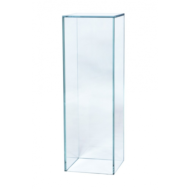 Sockel Glas, 30 x 30 x 80 cm (LxBxH)