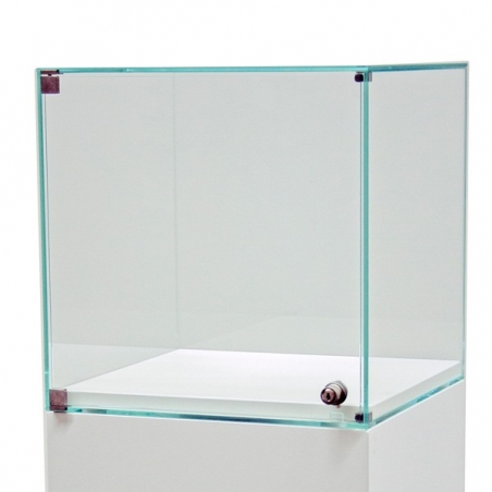 Glashaube mit Tür, 35 x 35 x 35 cm (LxBxH)