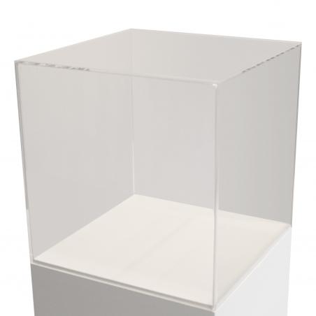 Vitrinenhaube aus extra transparentem 4mm-Acrylglas, 40 x 40 x 40 cm (LxBxH), Kanten poliert & geschliffen