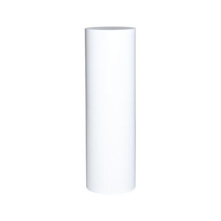 Runder Sockel matt-weiß, Ø 31,5 cm x 100 cm (Höhe)