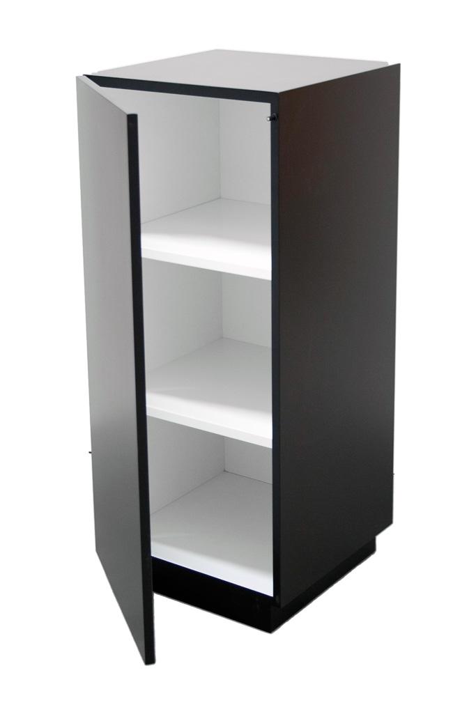 Galeriesockel schwarz mit Tür
